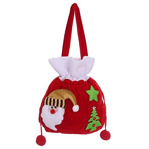 Chytaii Sac Poche avec Corde Emballage de Bonbons Décoration Cadeaux de Noël