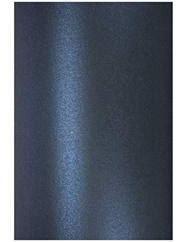 Netuno 10x Perlmutt-Dunkel-Blau 120g Papier DIN A4 210x297 mm Aster Metallic Queens Blue schimmernd glänzend Perlglanz Pearlpapier Glanzpapier Perlmuttglanz-Papier Effekt-Papier