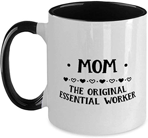 Ceramiczny szklany kubek do kawy herbaty/wina, 325 ml kubek do kawy herbaty świąteczny prezent urodzinowy mama oryginalny niezbędnik pracownik najlepszy urodzinowy dwukolorowy kubek dla matki