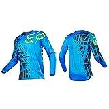 HFJLL Mountain Bike Motocross Jersey Camiseta de Manga Larga - Traje de Descenso al Aire Libre a Pru...
