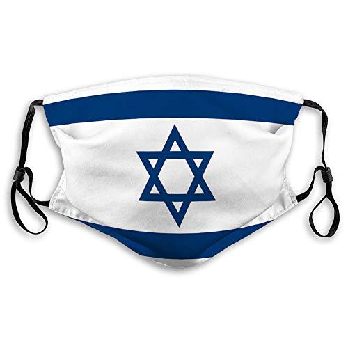 Mundschutz Einstellbarer Anti-Staub-Gesichtsschutz israelische Flagge Außenabdeckungen