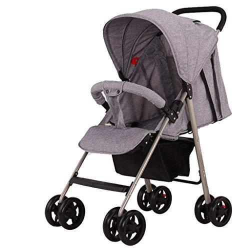 Carritos y sillas de Paseo El Cochecito de bebé El Paraguas para bebé se Puede sentar Reclinable Plegable Ultra liviano El portátil Puede Estar en el avión Amortiguador de Choque Bebé SIL