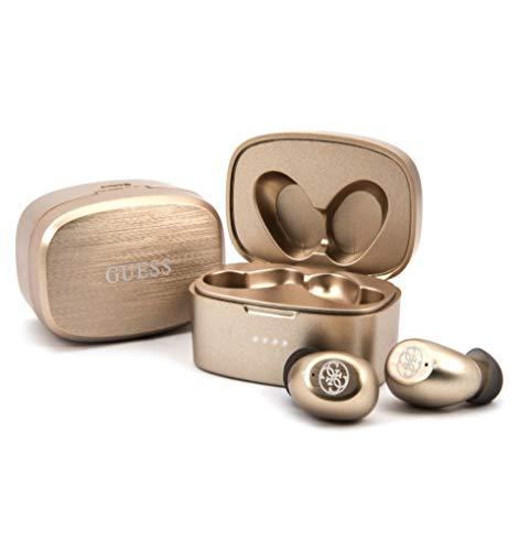 Guess - Auricular estéreo con Bluetooth 5.0, Color Dorado