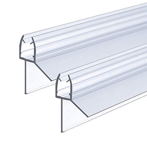 IMPTS 2 Stück Dichtung Dusche, 100cm, Ersatzdichtung für 5mm 6mm Glastür Stärken, Duschkabine Wasserabweiser Duschdichtung Schwallschutz Dichtkeder - Transparent