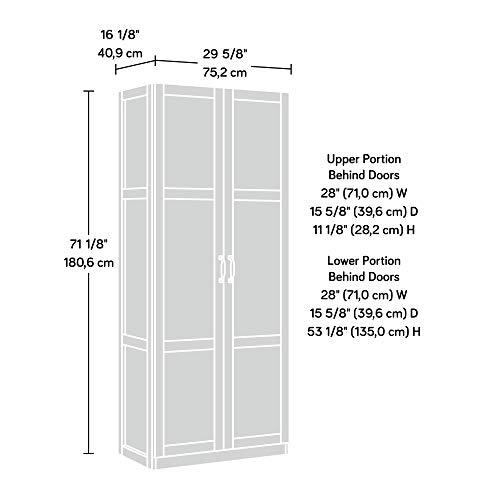 Sauder 419496 Miscellaneous Storage Storage Cabinet, L: 29.61