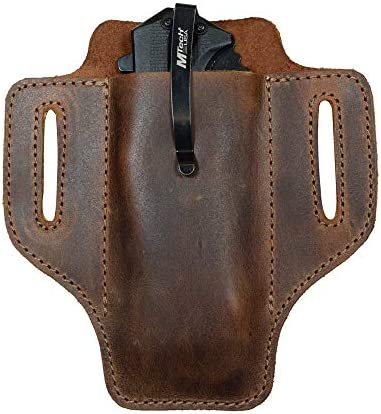 Hide Drink Leather Tactical Knife Holster Multitool Holder Camping Outdoor Accessories Handmade product image