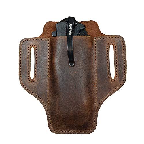 Durable Leather Work Pocket Organizer for Tools//Pens Dark Jade Hide /& Drink Office /& Work Essentials Handmade Includes 101 Year Warranty