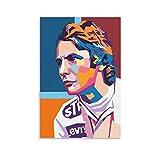 QWSDF Niki Lauda Poster, dekoratives Gemälde, Leinwand,