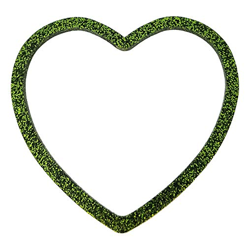VIALESCARPE - Pulsera rígida ArkyFly, Plexyglass con purpurina tallada en forma de corazón, para mujer; verde; UNI.