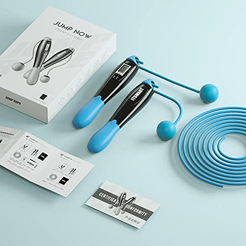Gidenfly Corda per saltare con contatore di calorie, a LED, per saltare a 360°, anti-tangling, corda regolabile e corda per saltare digitale, per allenamento in interni ed esterni