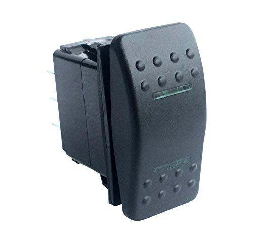 HYY Green Led 7 pin ON/Off/ON DPDT Rocker Switch for NARVA ARB Carling Style Replacement 12V 24V Marine Grade