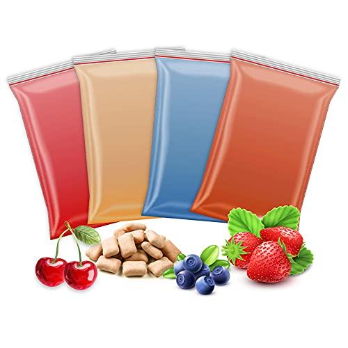 4x 200g Aromazucker   Erdbeere – Kirsche – Bubble Gum - Blaubeere   4 Sorten Zucker mit Geschmack für Bunte Zuckerwatte / Zuckerwattemaschine   800 Gramm gesamt   Set Nr. 2