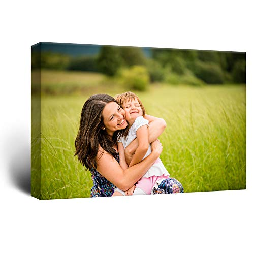 wall26 Custom Canvas Wall Art, Personalized Photo to Canvas - 24x36