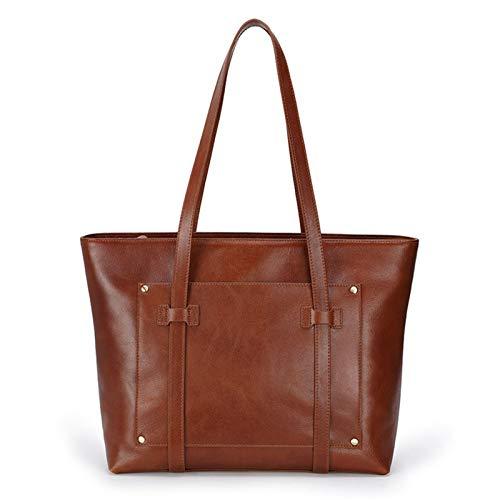 Women's Handbag Shoulder Bag, Women's Fashion Large Tote Shoulder Bag Genuine Leather Crossbody Bag Ladies Top Handle Satchel Shopping Handbag Daily Purse Classic Lady Stylish Work Bus
