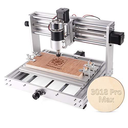 【Upgrade】 CNC Fräse3018 Max Graviermaschine, Vollmetallgehäuse Mini 3-Achsen-CNC-Fräsmaschine GRBL-Steuerung Holzplastik-Leiterplattenfräsmaschine mit Offline-Steuerung