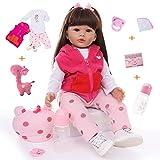 ZIYIUI Realistas Bebé Reborn Muñecas 20 Pulgadas 50cm Suave Vinilo de Silicona Bebe Reborn niña Recién Nacido Juguetes para niños Mayores de 3 años (Muñeca de Pelo Rizado)