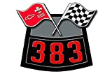 247Skins Vinyl Decal Compatible with Chevy Air Cleaner Filter - 383 Flag