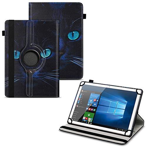 UC-Express Tablet Schutzhülle kompatibel für Vodafone Tab Prime 6 Hülle Tasche Universal Cover Hülle aus Kunstleder Standfunktion 360° Drehbar, Farben:Motiv 3