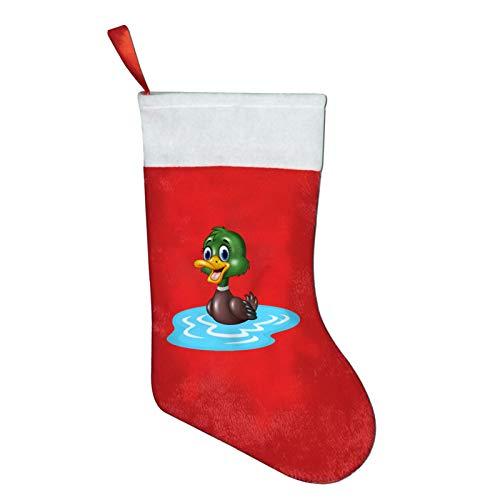 YUNDAY Christmas Stocking,Cartoon Mallard Duck Personalized Xmas Stockings Classic Stocking Decorations Holiday Family Party