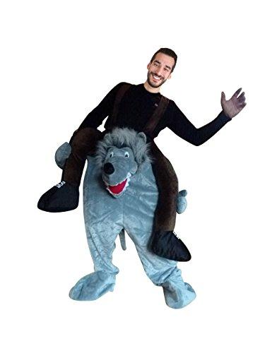 Ikumaal Carry-me Wolf- Kostüm-e F106 One Size Frau-en Männ-er Fasching-s Karneval-s