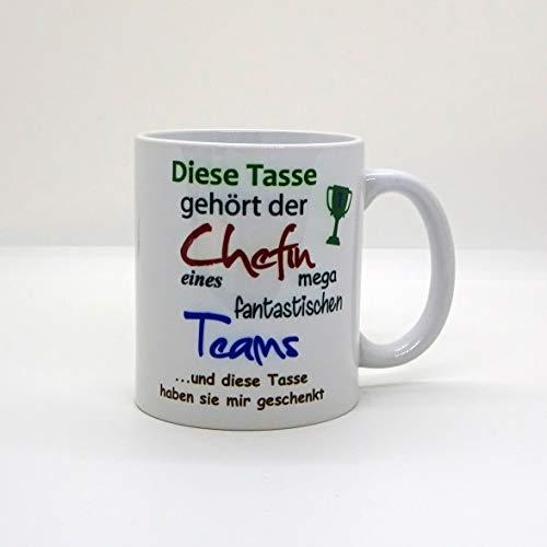 Kaffeebecher ~ Tasse - Diese Tasse gehört der Chefin ~ Arbeit Job~ Weihnachten Geschenk