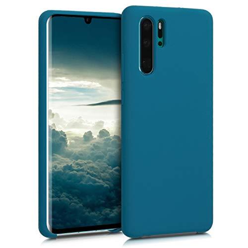 kwmobile Cover Compatibile con Huawei P30 PRO - Cover Custodia in Silicone TPU - Back Case Protezione Cellulare Petrolio Matt