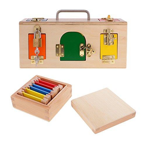 B Blesiya Kids Toddlers Montessori Toys - Petite Boîte De Verrouillage en Métal + Boîte d'apprentissage en Couleur