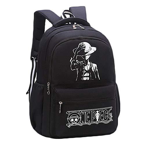 One Piece Mochila con Logo Estampado Mochilas Infantiles Bolsa Casual Mochilas Escolares Mochila de Viaje Mochila para Aire Libre