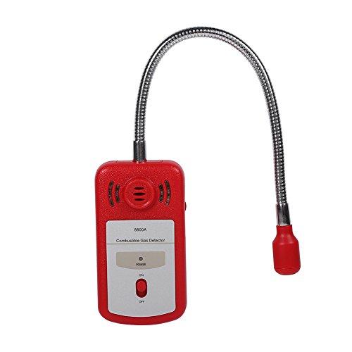 Gasleckdetektor, 1-teiliger Gasdetektor, brennbarer Erdgastester, digitaler Gasdetektor, Sicherheit mit Schallalarm und Lichtblitz für die Küche zu Hause