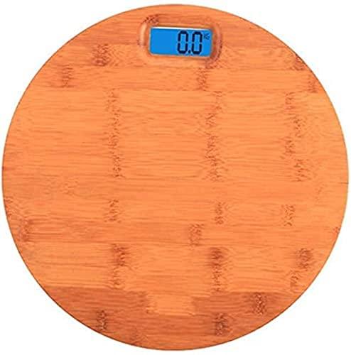 QUERT Básculas de pesaje Peso Corporal Madera Maciza Pesaje electrónico Digital, Weight Watchers Baño Alta precisión Ultradelgado