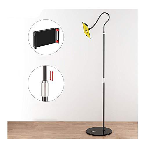 YFC Soporte Tablet Piso, Cuello de Cisne Brazo Largo teléfono Celular Titular de Altura Ajustable, 360 ° de rotación, for el iPad Pro/Mini/Aire, Samsung Galaxy Tab (Color : Negro)