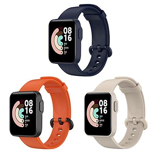 Bexido Correa de reloj compatible con Xiaomi Mi Watch Lite/Redmi Watch, silicona suave, accesorio deportivo, pulsera de repuesto para reloj Mi Watch Lite/Redmi