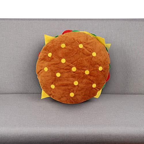 Sanpyl Almohada para Hamburguesas, cojín Suave y Duradero para Hamburguesas, para la decoración del hogar del sofá