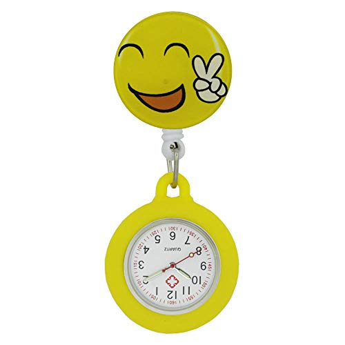 B/H Reloj de Bolsillo Enfermera Prendedor Broche,Reloj de Bolsillo de Cuarzo suspendido,Reloj de Enfermera Ligero y elástico-06,Reloj de Bolsillo de Cuarzo a Prueba de Agua