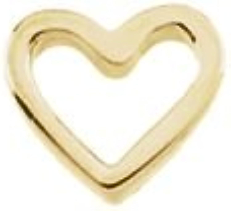 Beautiful Yellow gold 14K Yellowgold Heart Shaped Chain Slide