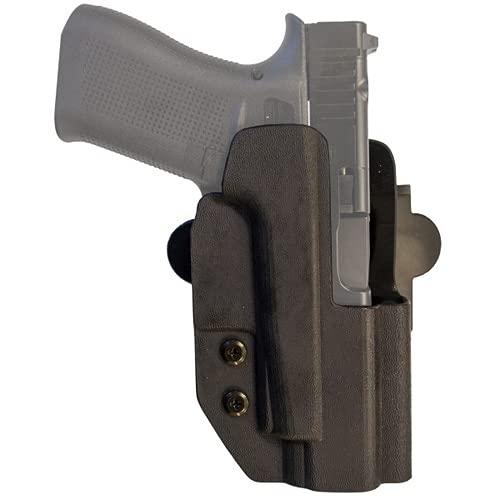 COMP-TAC.COM International Holster Walther - Q5 Steel Frame - Right - Black (Belt, Paddle, Drop Offset)