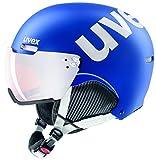 uvex hlmt 500 Visor, Casco da Sci Unisex Adulto, Cobalt-White Mat, 55-59 cm