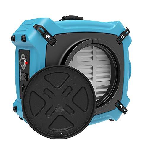 ALORAIR PureAiro HEPA Max 870 Air Scrubber | UV-C Light Sterilization | 3-Stage Filtration Negative Machine Air Purifier | Professional Water Damage Restoration for Air Cleaner | up to 550 CFM