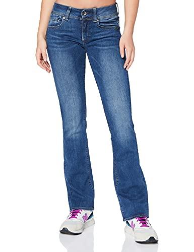 G-STAR RAW Midge Saddle Mid Waist Bootcut Jeans, Faded Blue 6553, 27W / 30L Donna