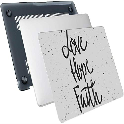 Macbook Air Skin Faith Hope Love Lettering Plastic Hard Shell Compatible Mac Air 13' Pro 13'/16' Macbook Air Case Protective Cover For Macbook 2016-2020 Version