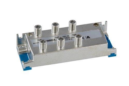 Kathrein EBC 06 6-fach-Verteiler (F-Anschluss, 5-1000 MHz, Rückweg- und UHF-tauglich, TV, Kabel)