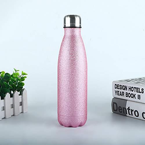 Heliansheng Botella de Deportes de Colores de Acero Inoxidable Botella de Cola de Pintura Flash Botella de Agua al Aire Libre termo-A42-500ml