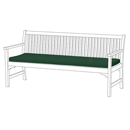 Shopisfy Gardenista 4 Seater Garden Bench Cushion Comfy Pad | Patio Furniture | Outdoor Use | Comfortable Lightweight & Water Resistant (Green)