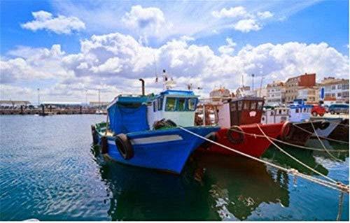 Puzzle de 1000 Piezas de Rompecabezas de Madera Children's Grove O Grove Puerto y río Arosa Barco pesquero Galicia Pontevedra Niños