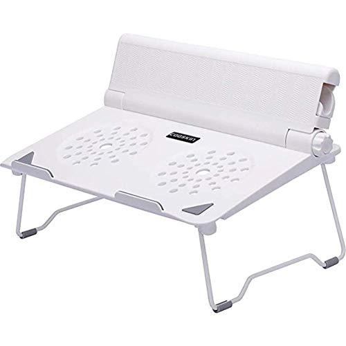 Laptop Stand Laptop Universal Bracket Radiator Desktop Increased Base Portable Folding Lifting Cervical Bracket (Color : White)