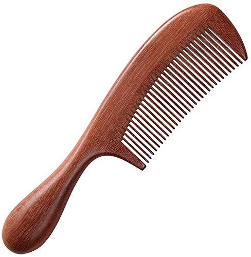 LLDKA Houten haarkam met handvat, lobular Rosewood, antistatische natuur fijne tand, Vrouwen, Mannen, Koppels