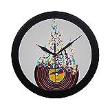 XHQZJ 掛け時計 おくゆかしい音楽音符 壁 おしゃれ 見やすい 軽量 24.5cm 部屋装飾 寝室 オフィス 子供室