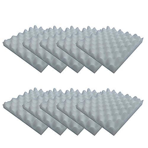 ZOYOSI 10pcs 25x25x4cm Sound-Absorción Algodón Insonorizado Espuma de Algodón Muffler Esponja