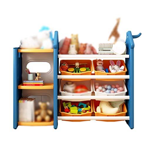 Soporte de estante de almacenamiento de niños de la vendimia, cojinete de carga fuerte, estante de tres niveles, área de juguete de mesa de bebé de mesa de juguete de kindergarten almacenamiento de bo