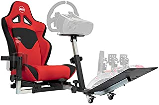 Openwheeler GEN2 Racing Wheel Stand Cockpit Red on Black | Fits All Logitech G29 | G920 | All Thrustmaster | All Fanatec Wheels | Compatible with Xbox One, Playstation, PC Platforms